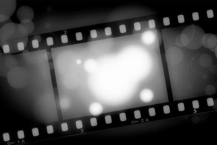 movies film blue light background